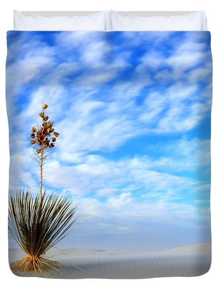 Desert Beauty White Sands New Mexico Duvet Cover by Bob Christopher