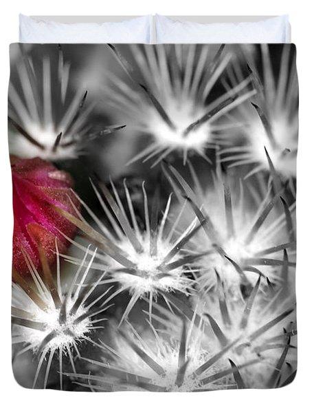 Desert Bloom Bw Duvet Cover