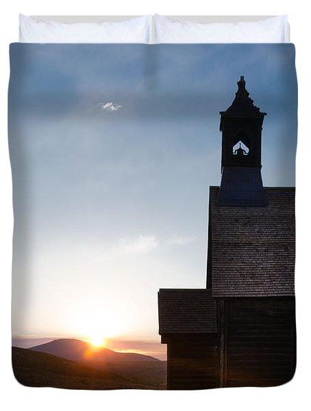 Desert Church  Duvet Cover