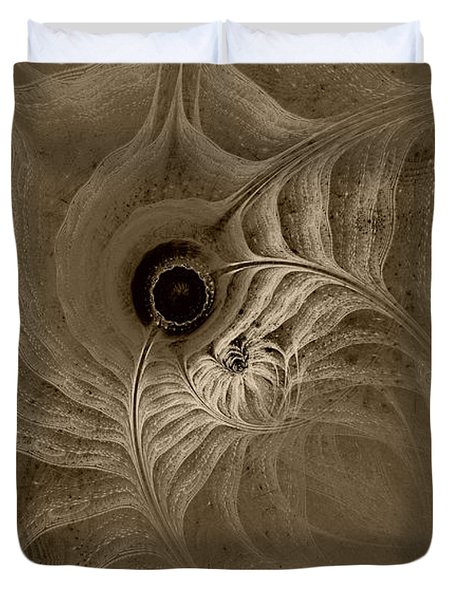 Desert Etching Duvet Cover by GJ Blackman