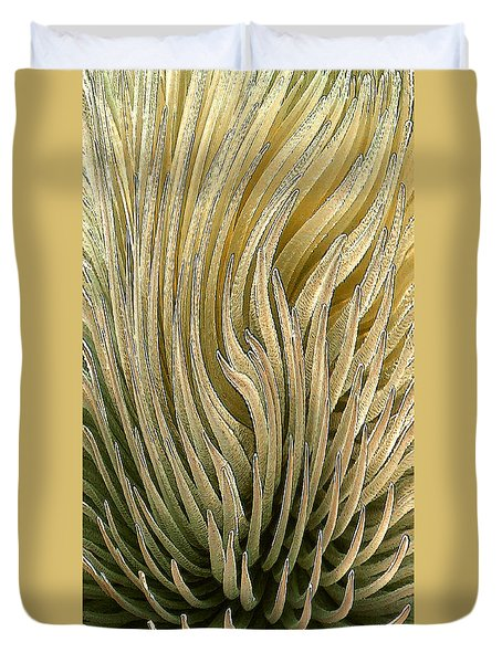 Desert Green Duvet Cover by Ben and Raisa Gertsberg