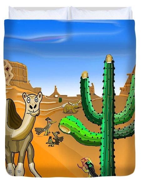 Desert Hands Duvet Cover