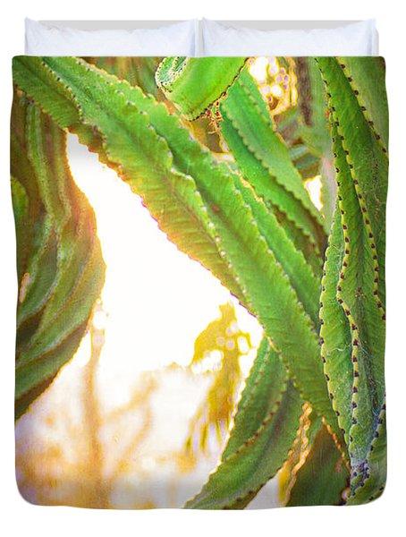 Desert Heat Duvet Cover by Roselynne Broussard