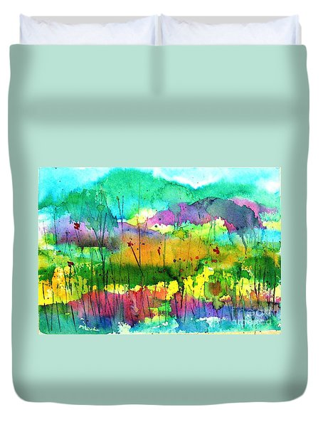 Desert In The Spring Duvet Cover