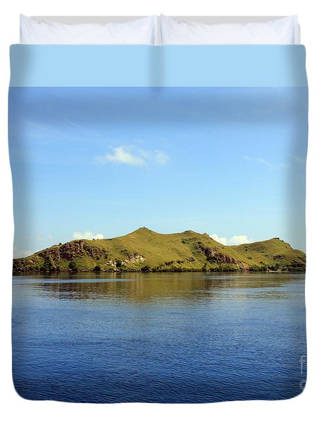 Duvet Cover featuring the photograph Desert Island by Sergey Lukashin