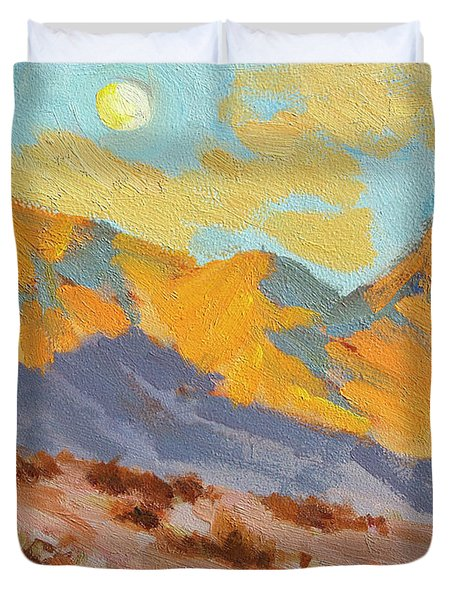 Desert Morning La Quinta Cove Duvet Cover