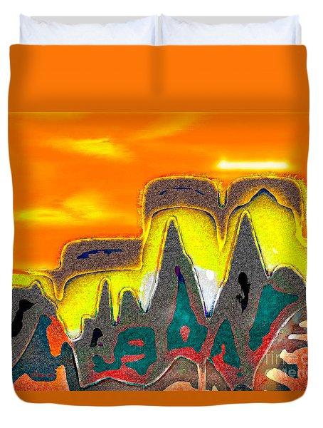 Desert Mountain Abstract Duvet Cover
