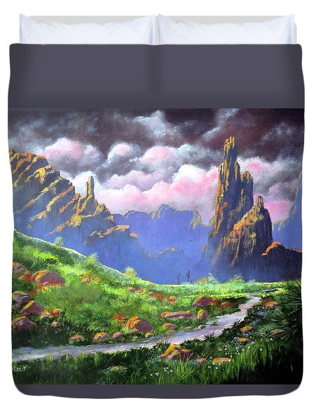 Desert Mountains Duvet Cover