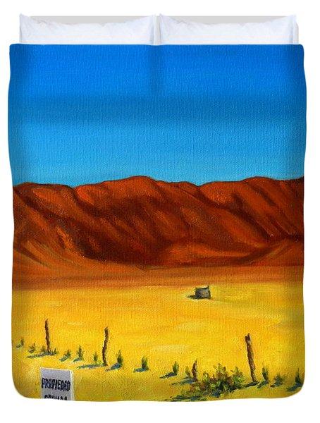 Desert Privacy Duvet Cover