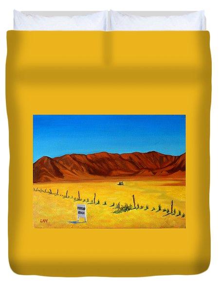 Desert Privacy, Peru Impression Duvet Cover