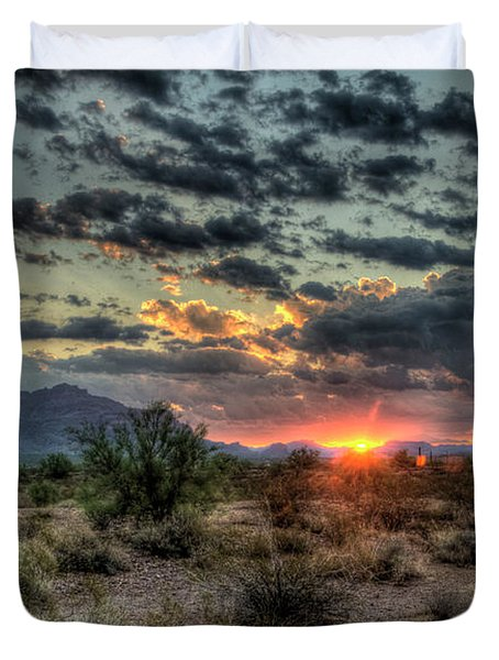 Desert Sunrise  Duvet Cover