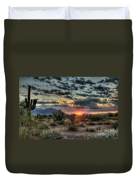 Desert Sunrise  Duvet Cover by Saija  Lehtonen