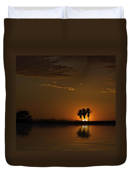 Desert Sunset Duvet Cover by Lynn Geoffroy
