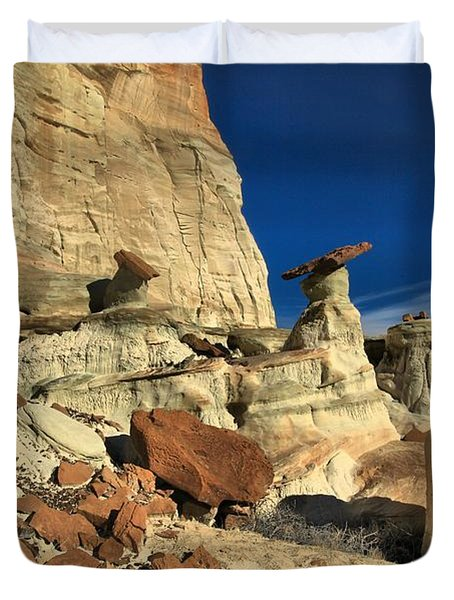 Desert Towers Duvet Cover by Adam Jewell