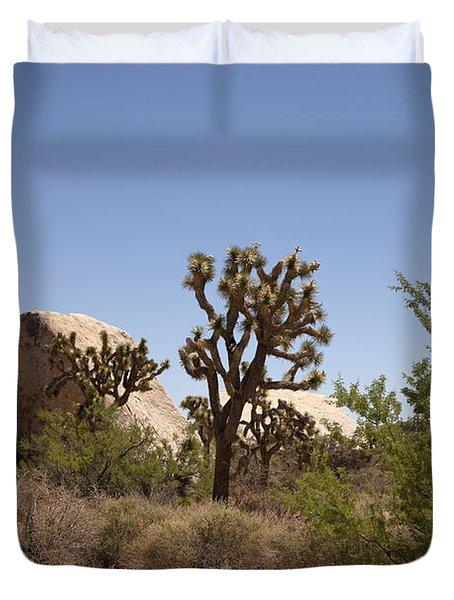 Desert Trees Duvet Cover by Amanda Barcon