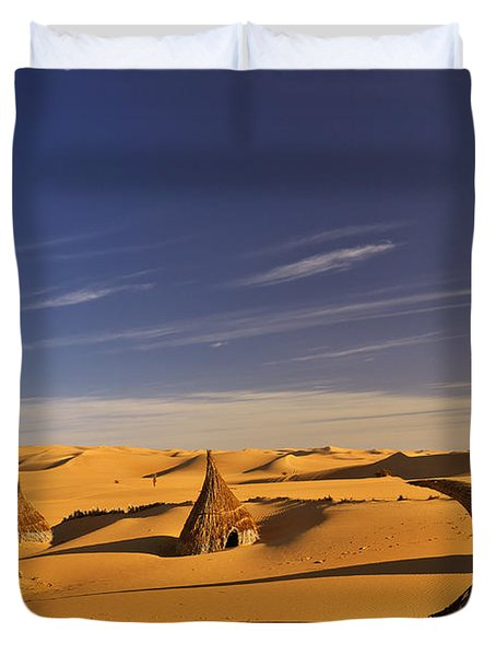 Desert Village Duvet Cover