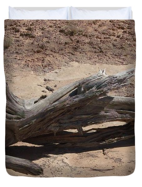 Duvet Cover featuring the photograph Desert Wildwood by Fortunate Findings Shirley Dickerson