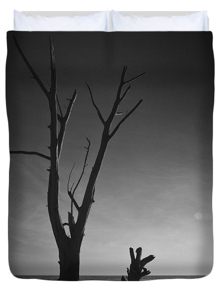 Deserted Beach Sunset Duvet Cover by Bradley R Youngberg