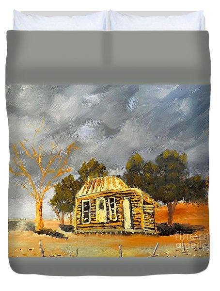 Deserted Castlemain Farmhouse Duvet Cover