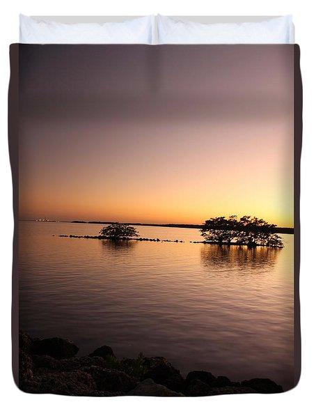 Deserted Island Duvet Cover by AR Annahita