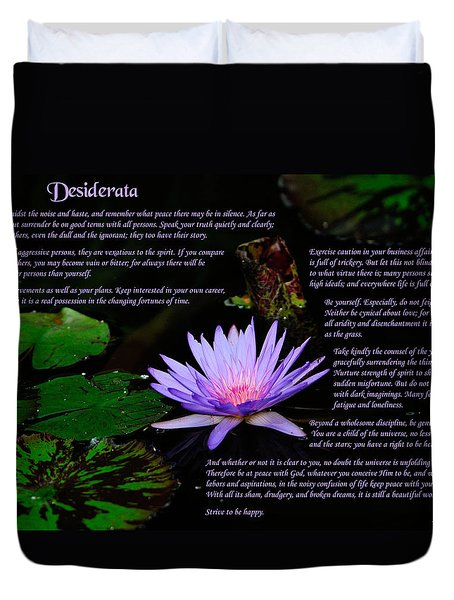 Desiderata 2 Duvet Cover by Greg Norrell