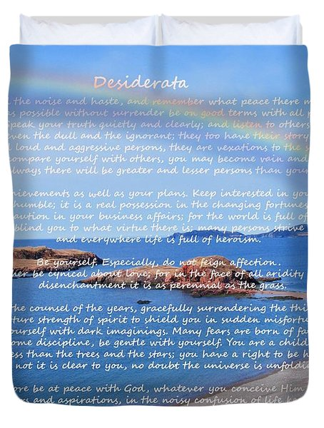 Desiderata  Duvet Cover by Barbara Griffin