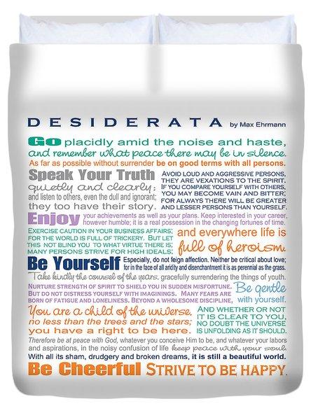 Desiderata - Multi-color - Square Format Duvet Cover