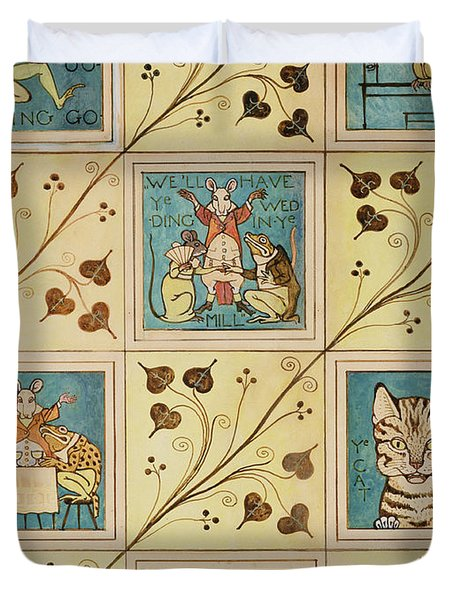 Design For Nursery Wallpaper Duvet Cover by Voysey