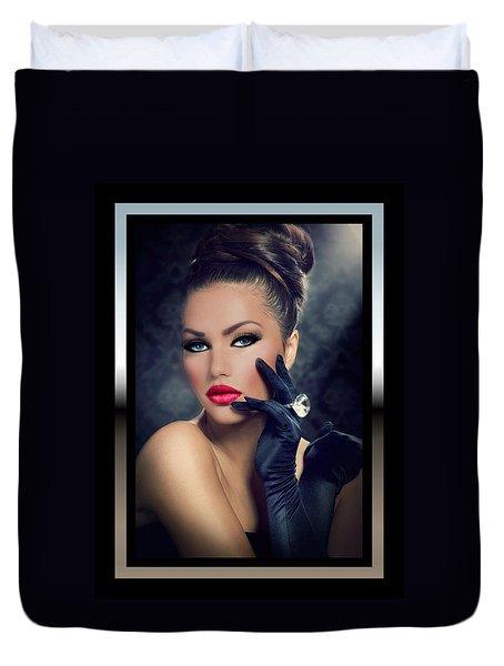 Duvet Cover featuring the digital art Desired by Karen Showell