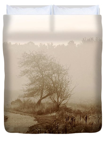 Duvet Cover featuring the photograph Desolation  by Bruce Patrick Smith