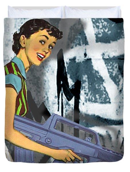 Desperate Housewife Duvet Cover by Tony Rubino