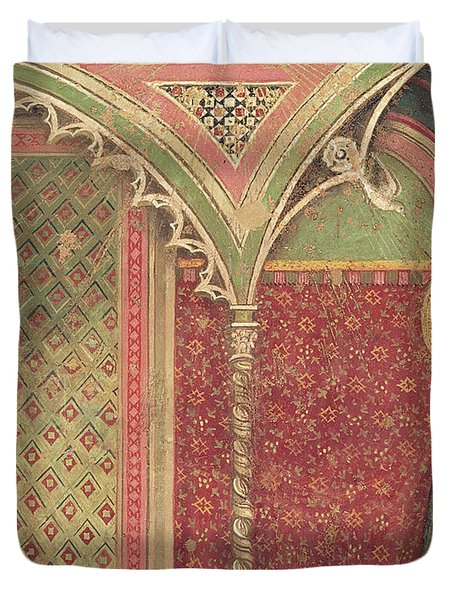 Detail Of The Annunciation Duvet Cover