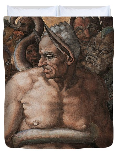 Detail Of The Last Judgment Duvet Cover