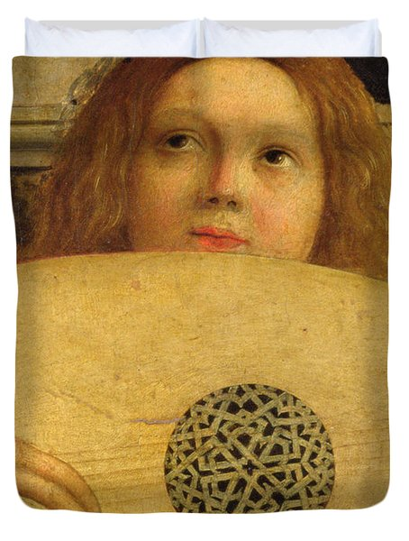 Detail Of The San Giobbe Altarpiece Duvet Cover by Giovanni Bellini