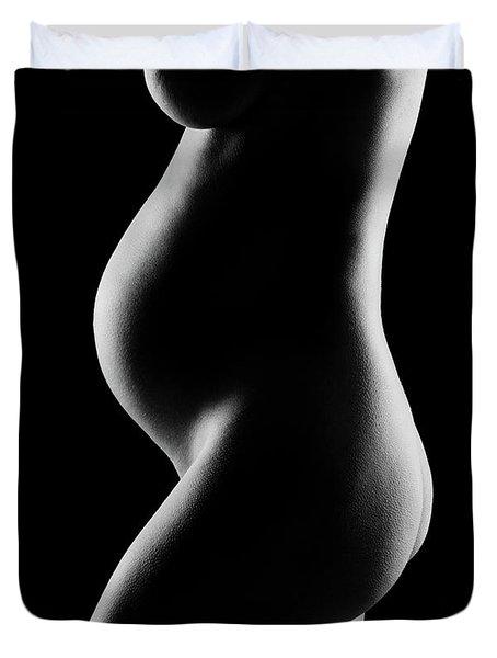 Details Of A Pregnant Womans Body Duvet Cover