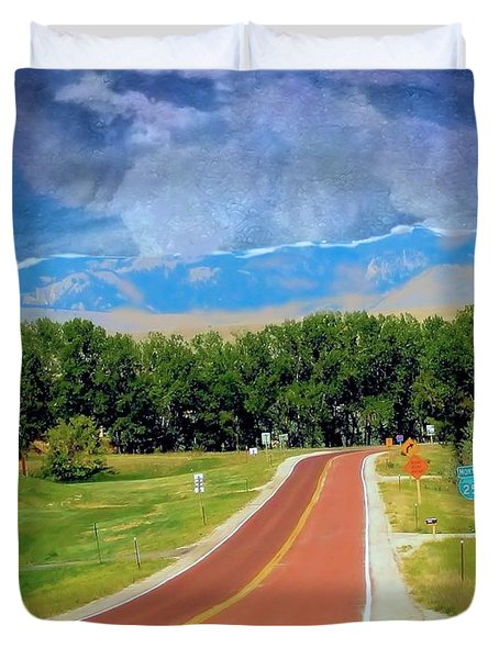 Duvet Cover featuring the photograph Detour To Buffalo Wyoming by Janette Boyd