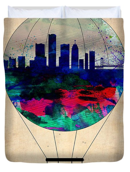 Detroit Air Balloon Duvet Cover