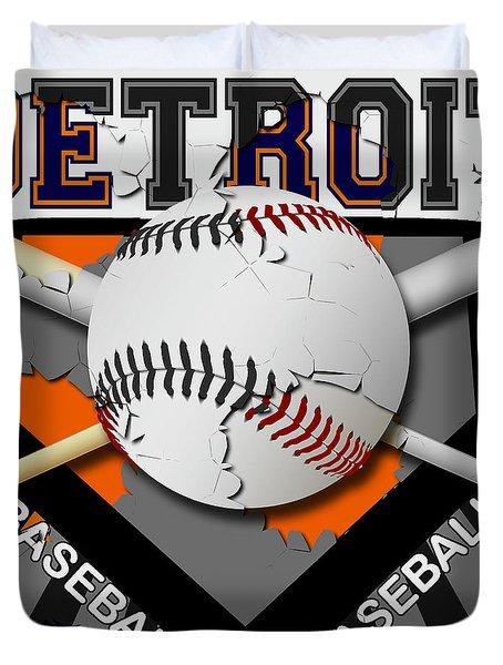 Detroit Baseball  Duvet Cover by David G Paul