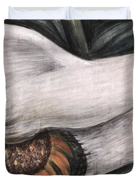 Detroit Industry   Detail Of West Wall Duvet Cover by Diego Rivera