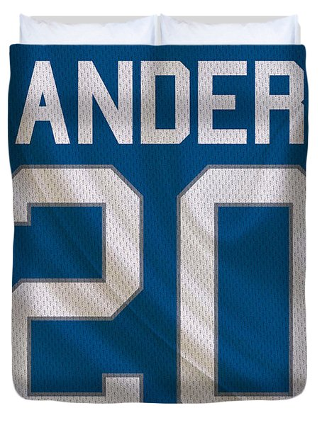 Detroit Lions Barry Sanders Duvet Cover