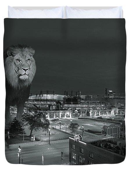 Detroit Lions Duvet Cover by Nicholas  Grunas