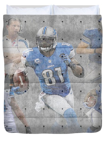 Detroit Lions Team Duvet Cover