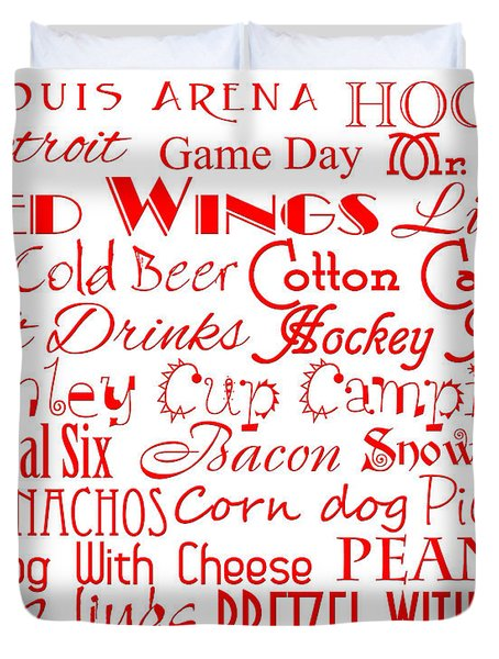 Detroit Red Wings Game Day Food 1 Duvet Cover