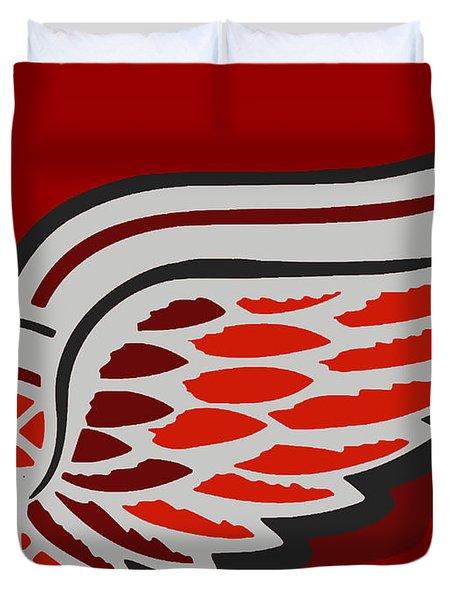 Detroit Red Wings Duvet Cover by Tony Rubino