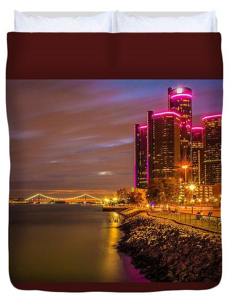 Detroit Riverwalk Duvet Cover