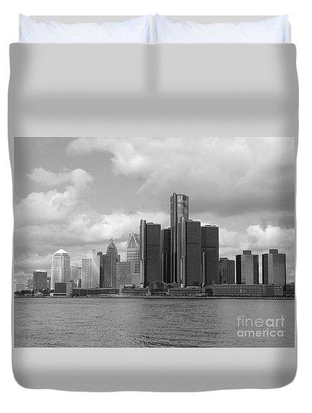 Detroit Skyscape Duvet Cover