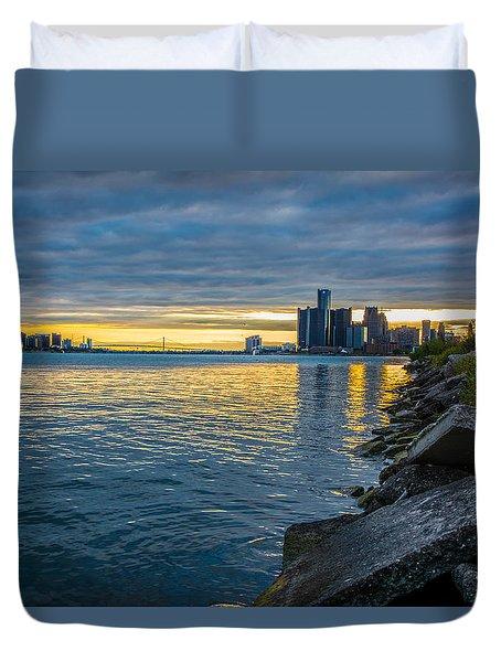 Detroit Sunset Duvet Cover