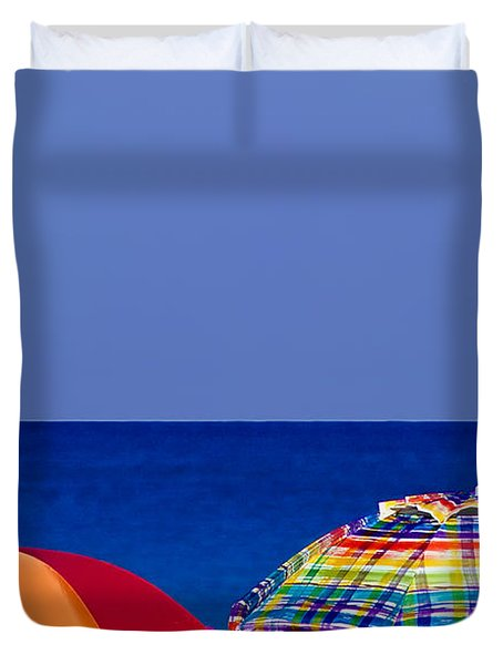 Deuce Umbrellas Duvet Cover