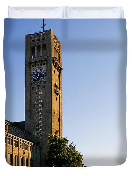 Deutsches Museum Munich - Meteorological Tower Duvet Cover by Christine Till