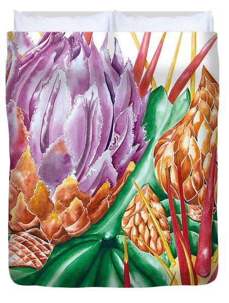 Devil's Tongue Cactus Flower Duvet Cover